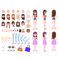 character constructor set vector image