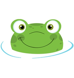 Cute frogs head vector image