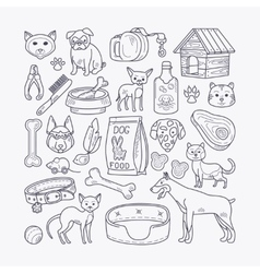 Dog and cat signs vector