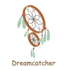 dream catcher icon isometric 3d style vector image