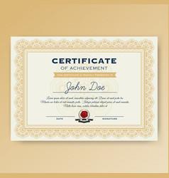 Elegant certificate achievement vector