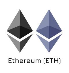 Ethereum eth crypto coin i vector