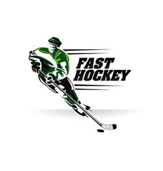 fast hockey logo sign symbol vector image