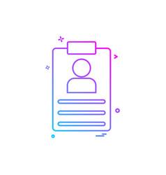 file clip-board paper-board details icon desige vector image