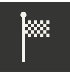 Flat in black and white mobile application finish vector