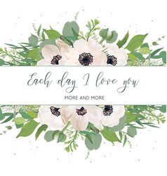 Floral card design with watercolor style light vector