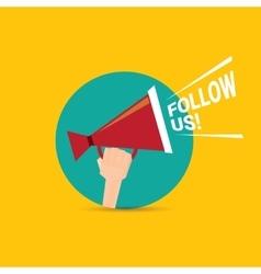 Follow us banner Follow us concept vector