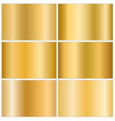 gold metallic gradient set vector image