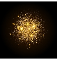 Gold shiny particles shape Sparkling background vector image