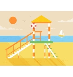 happy sunny summer day at the vector image