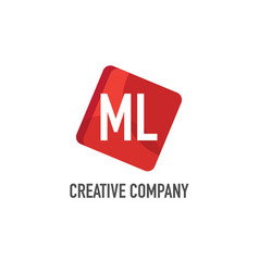 initial letter ml logo template design vector image