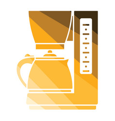 kitchen coffee machine icon vector image