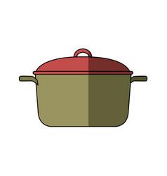 Kitchen pot cartoon saucepan of to cooking vector