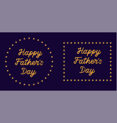 lettering of happy father day vector image
