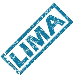 Lima rubber stamp vector