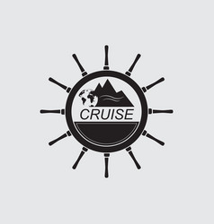 logo sea cruise vector image