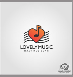 Lovely music logo - easy listening relaxation vector