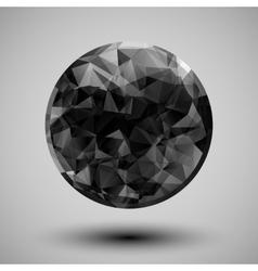 Low poly circular shape vector