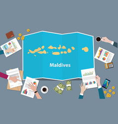 Maldives country growth nation team discuss with vector