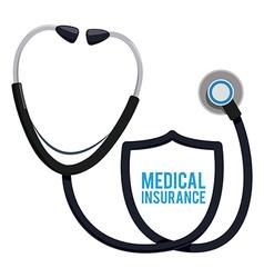Medical insurance design vector