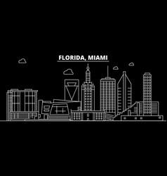 Miami silhouette skyline usa - miami city vector