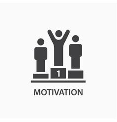 motivation icon leadership logo template vector image