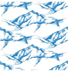 mountain seamless vector image