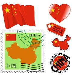 national colours of China vector image