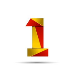 Number one 1 icon design template elements 3d logo vector