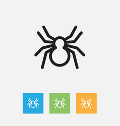 Of animal symbol on arachnid vector