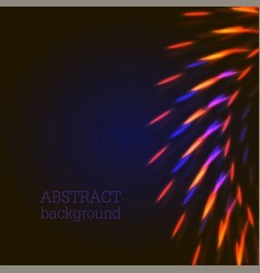 Orange and blue lights abstract background vector