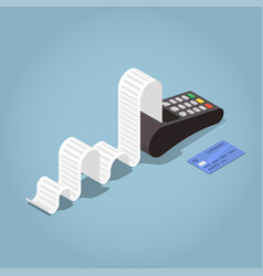 outline payment terminal vector image