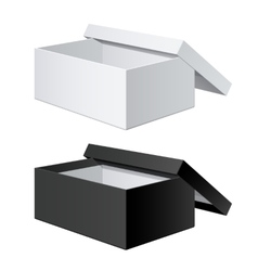 Package Box Opened with the cover removed vector
