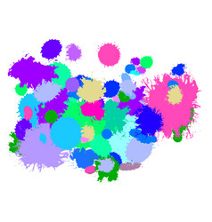 paint splash cold gamma vector image