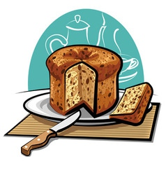 Panettone cake vector