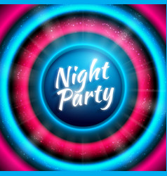 Premium banner template for club night party vector