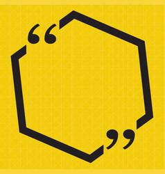 Quotation mark speech bubble sign icon design vector