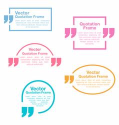 quotation quotation speech bubbles set vector image