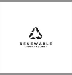 recycle arrow logo design template vector image