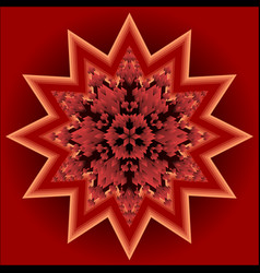 red mandala for energy and vitality obtaining vector image vector image