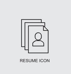 Resume icon vector