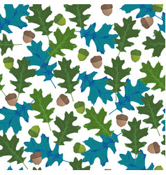 seamless pattern with autumn leaves in seasonal vector image