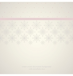 Seamless snowflakes lace background 2 vector