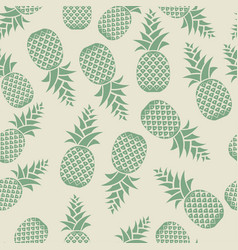 Seamless texture pineapples printing on fabric vector