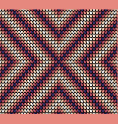 seamless violet centre knitting pattern vector image