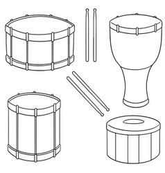 Set of drum vector