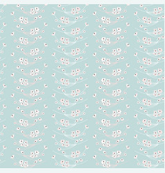 Soft floral seamless pattern vector