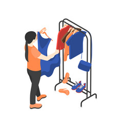 Sorting clothes icon vector