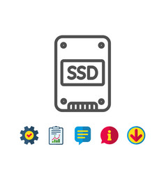 ssd icon solid-state drive sign vector image