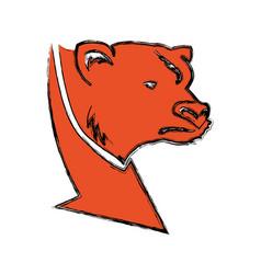 Stock market bear symbol vector